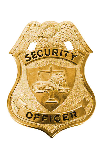 Security Officer Badge Security Officer Badge on a white background. security pass stock pictures, royalty-free photos & images