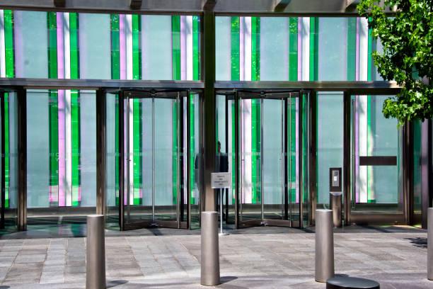 Security Officer, ONE World Trade Center entrance, Lower Manhattan, New York City, USA stock photo