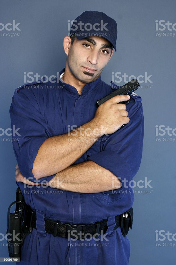 Security officer standing in uniform royalty-free stock photo