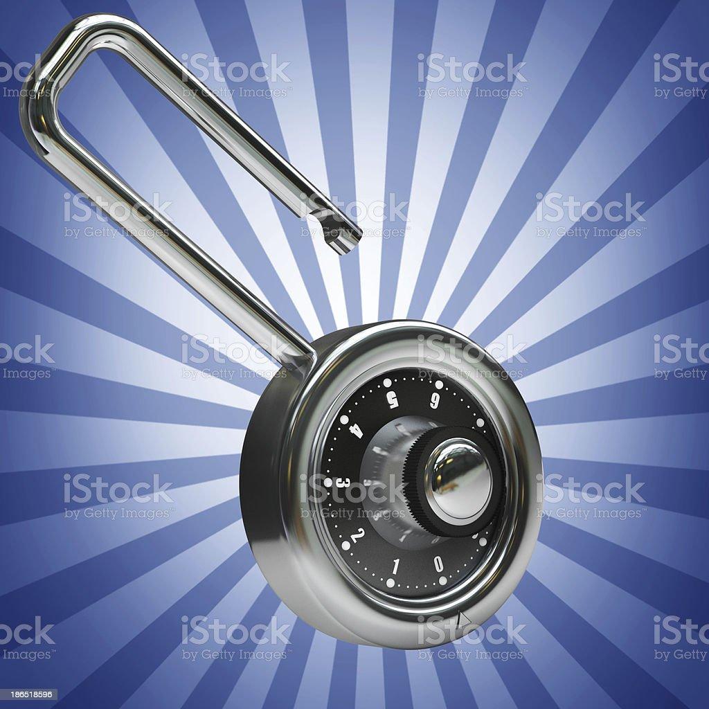 Security Padlock royalty-free stock photo