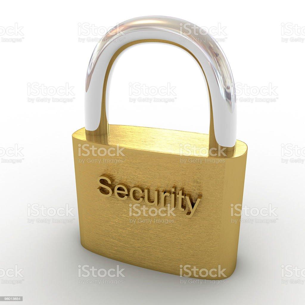 Cadeado de segurança foto royalty-free