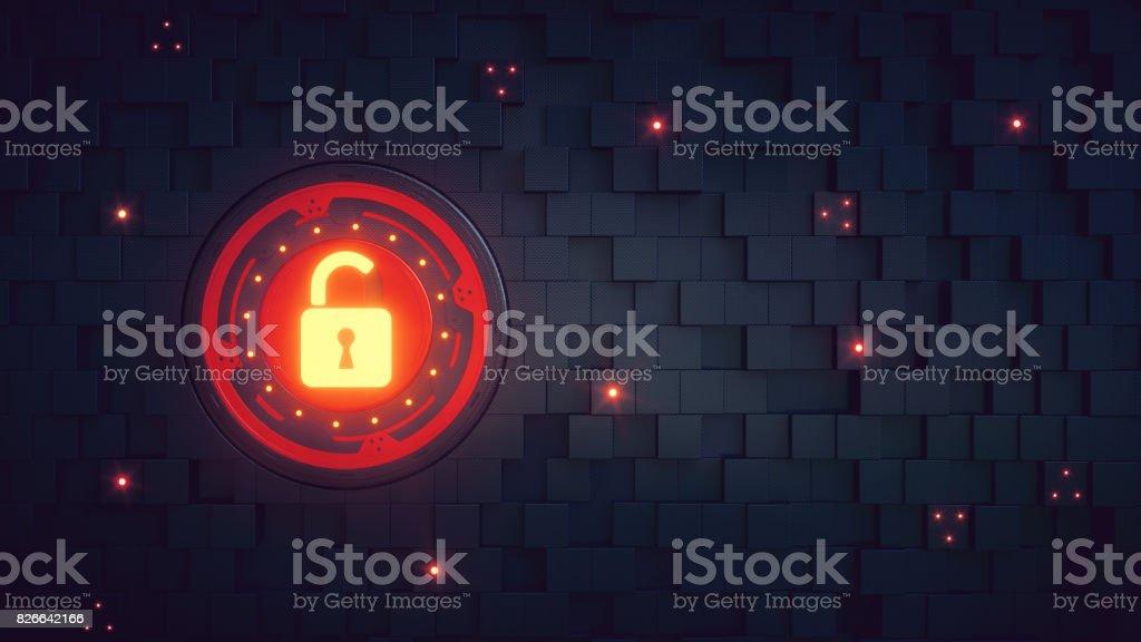 Vermelho de papel de parede de cadeado de segurança - foto de acervo