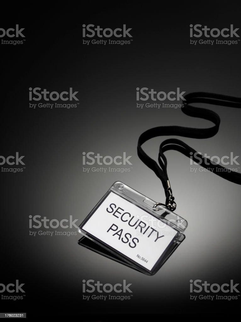 Security Pass stock photo