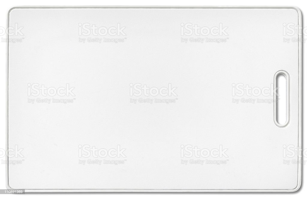 Security pass with clipping path on white background stock photo