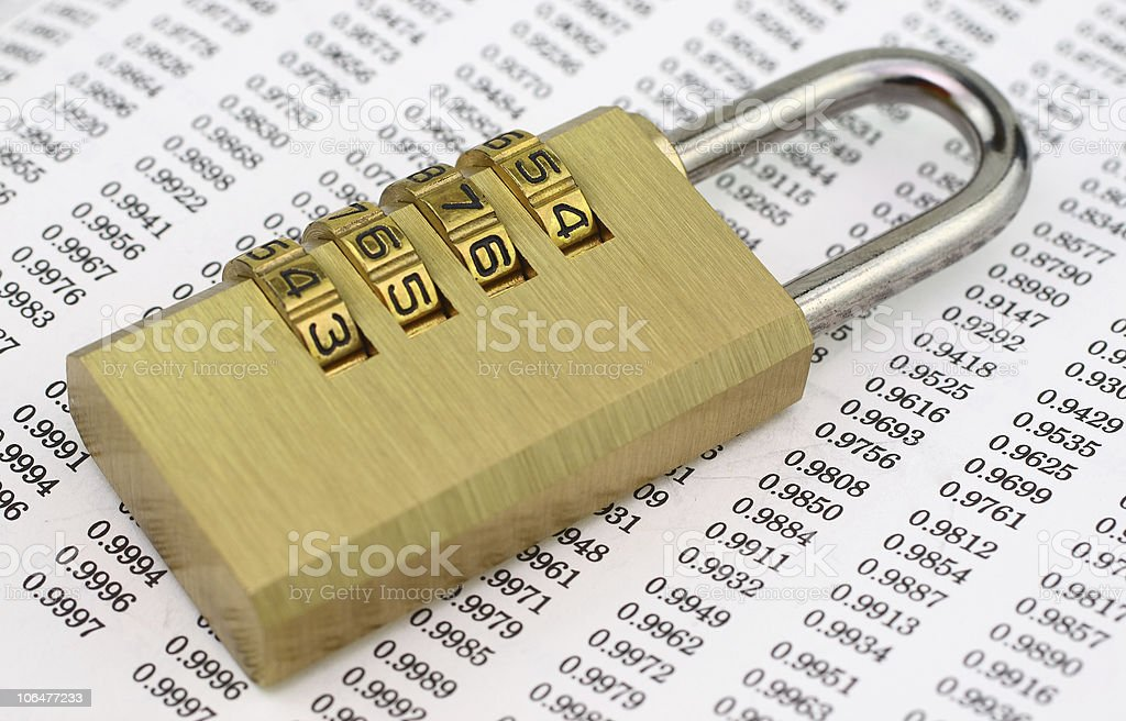 Security password royalty-free stock photo