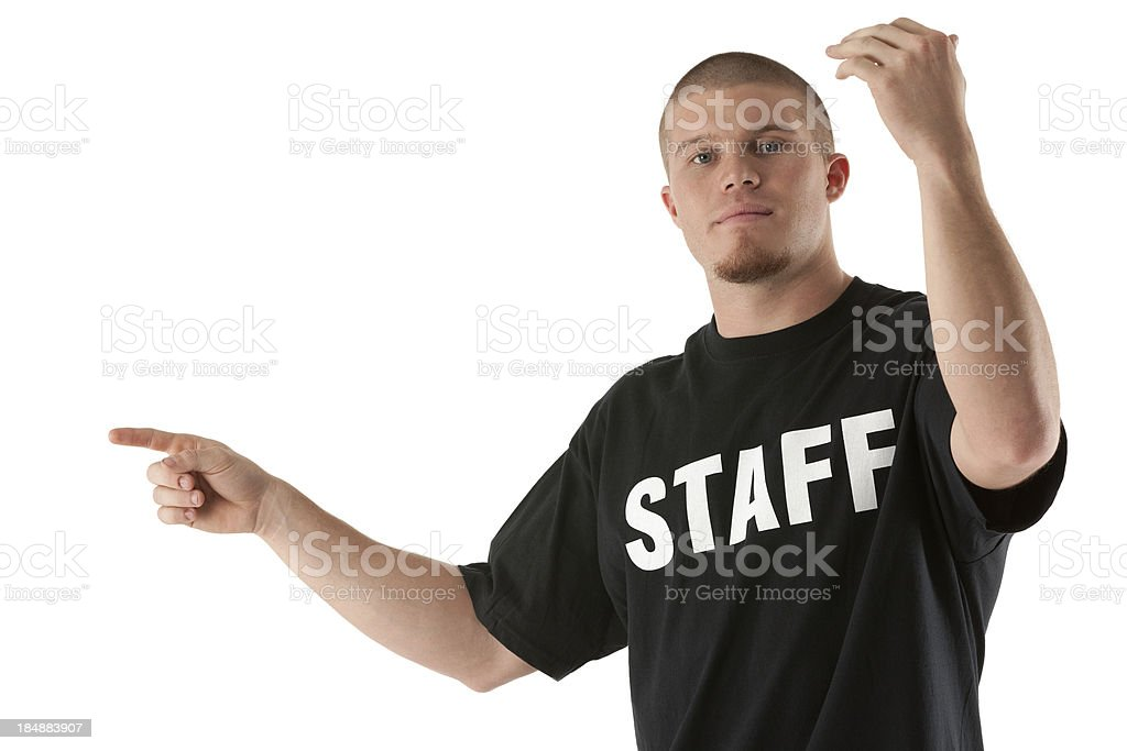 Security person at work royalty-free stock photo