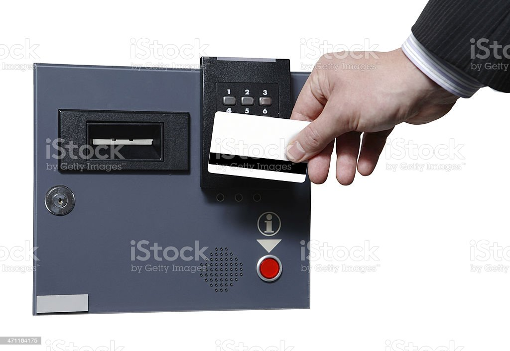 Security protocol cardkey and slot royalty-free stock photo