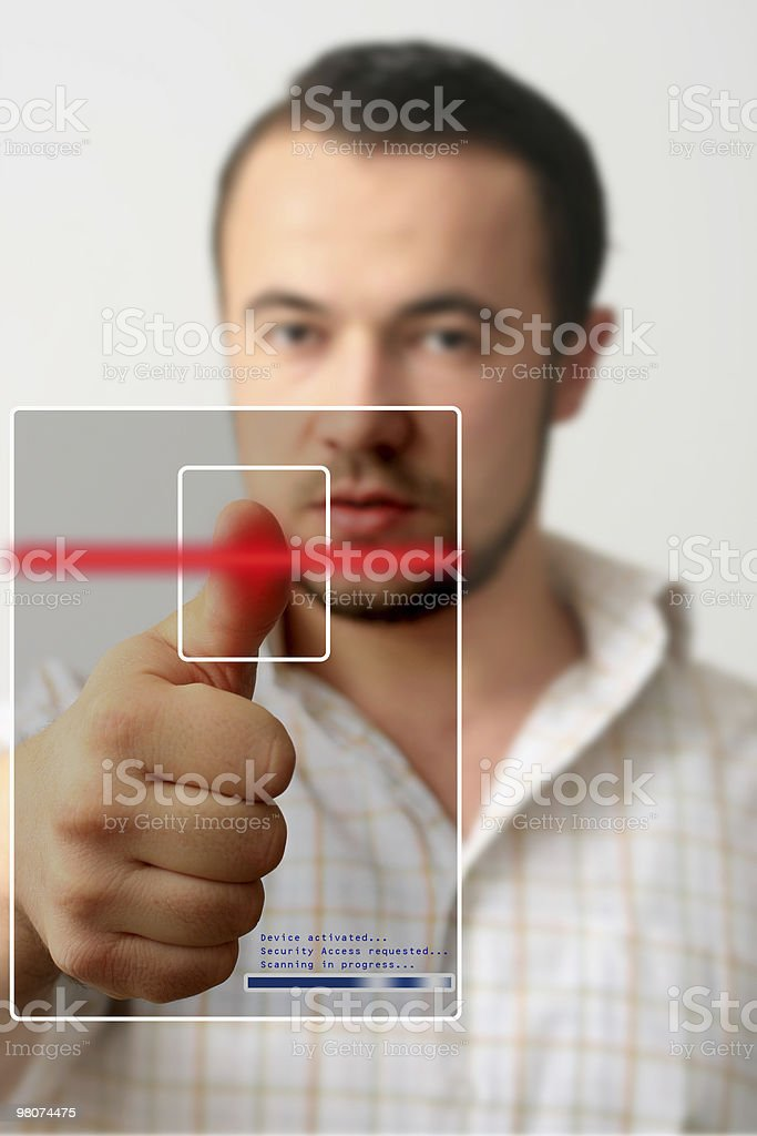 Security Scan royalty-free stock photo