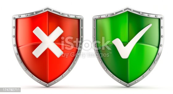 istock Security shield icons 174792711