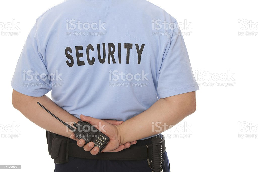 security staff member stock photo