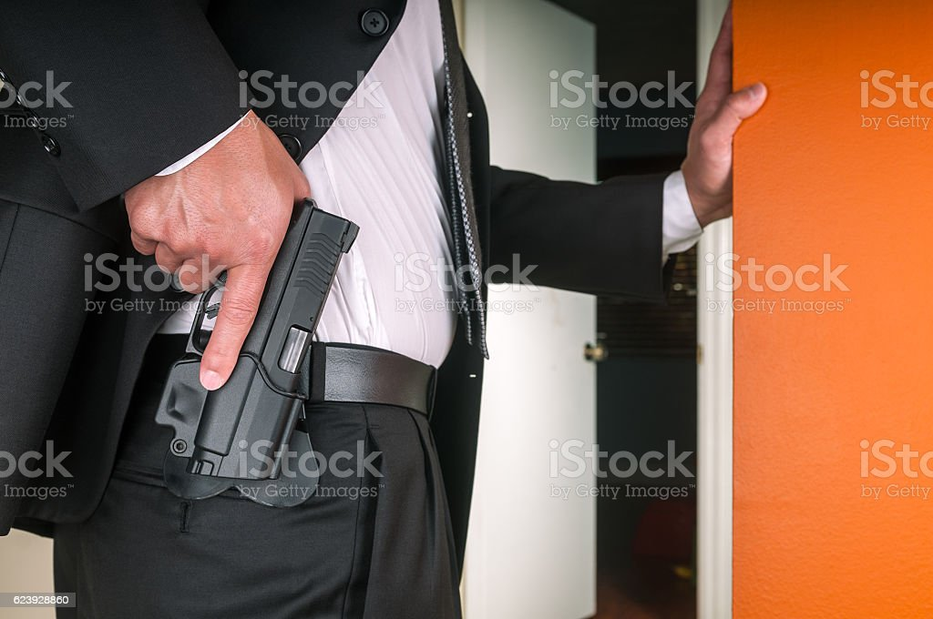 Security staff stock photo