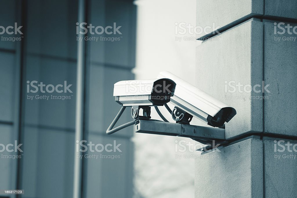 CCTV Security Surveillance Camera royalty-free stock photo