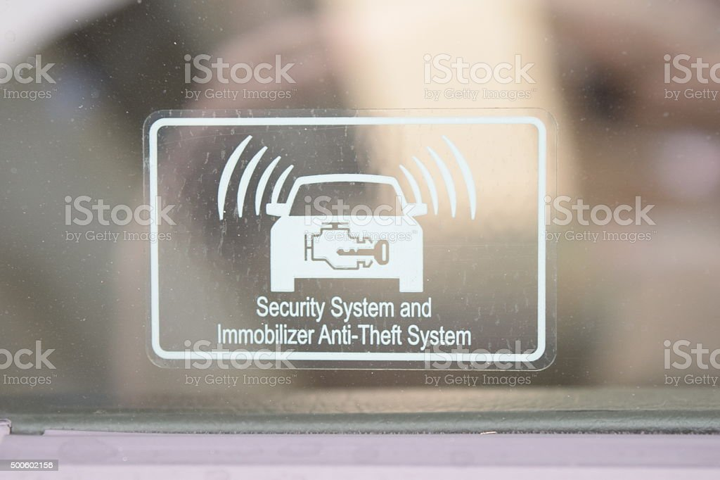Security System And Immobilizer Anti-Theft System stock photo