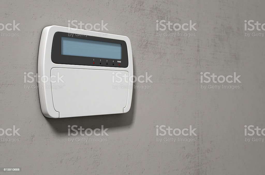 Security System Panel stock photo