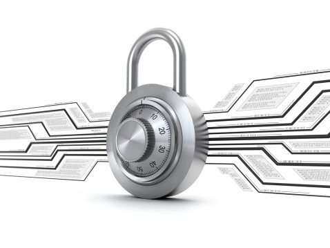 3d lock with abstract electronics