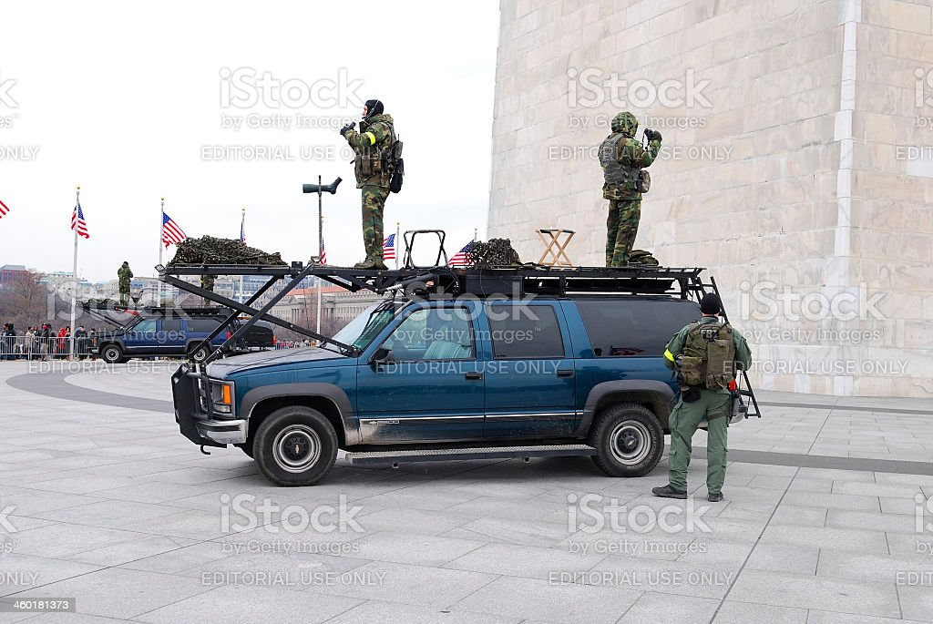 FBI security teams deployed for Presidential Inauguration stock photo