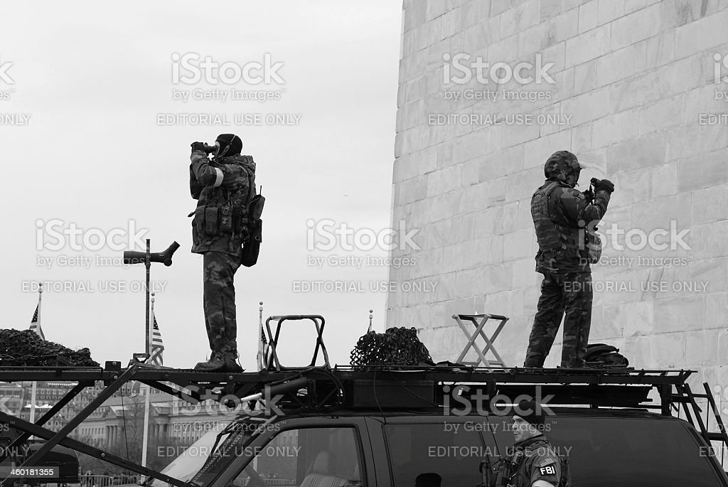 FBI security teams in Washington DC stock photo