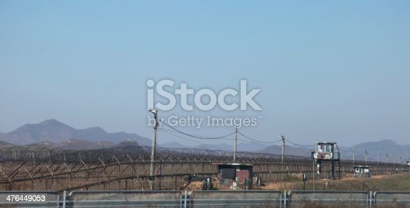istock Security towers North, South Korea 476449053