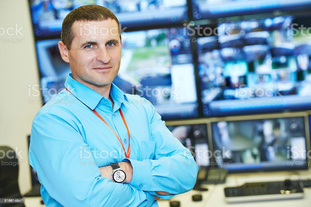 Security video surveillance chief stock photo