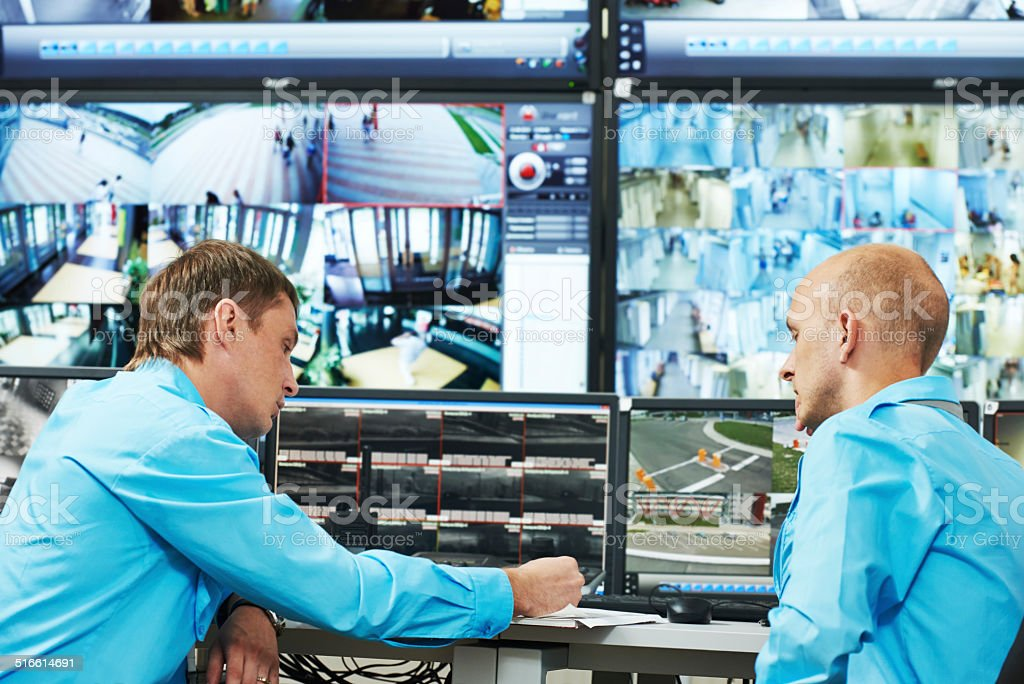 Security video surveillance stock photo