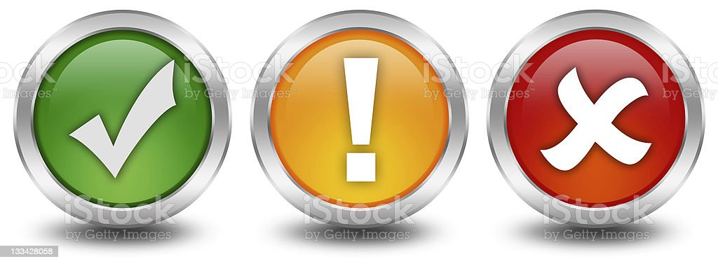Security web buttons stock photo