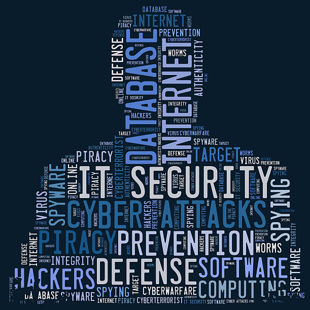 IT Security word cloud stock photo