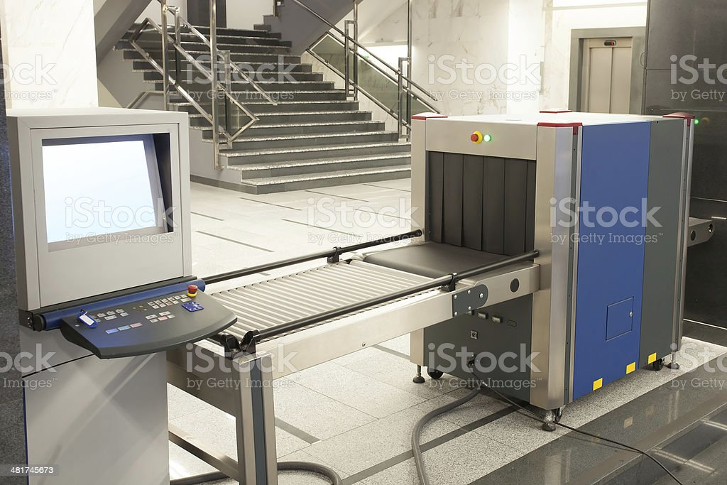 security x ray machine stock photo