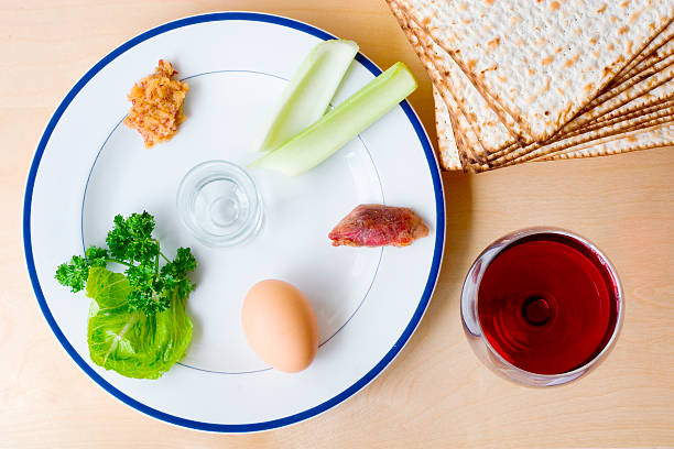 Sedar plate Seder plate for Passover seder plate stock pictures, royalty-free photos & images
