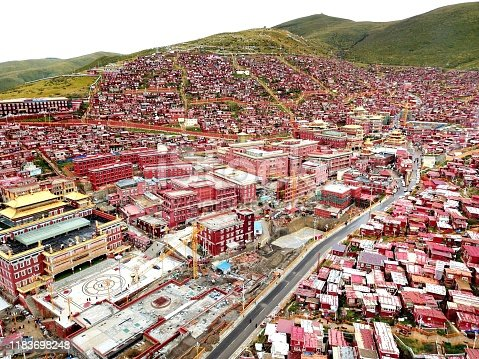 Sedar Wuming Buddhist College and the residential houses, in Tibetan Autonomous Prefecture of Garzi, Sichuan province, China