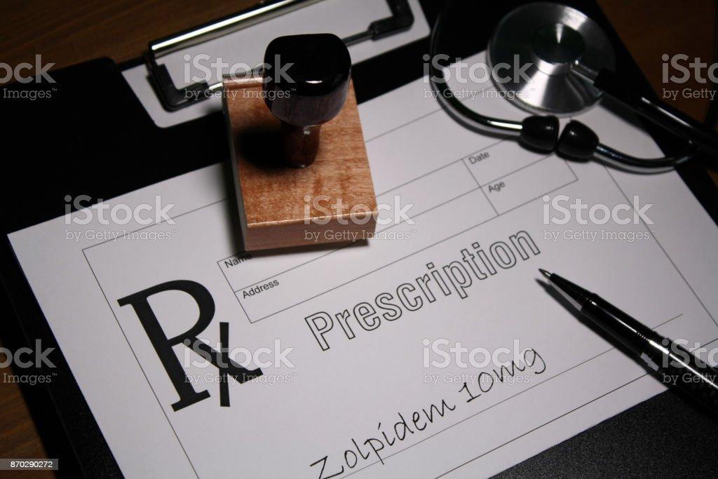 Sedative drug stock photo