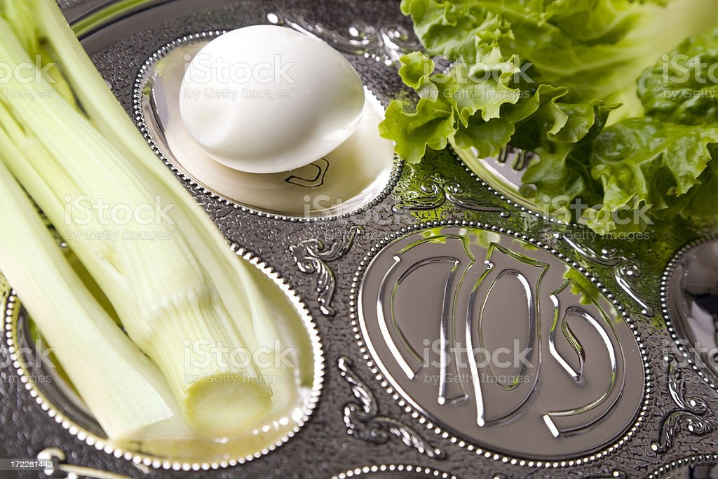 Seder plate royalty-free stock photo