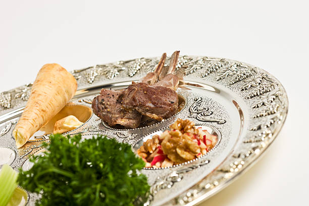 Seder plate Seder plate - traditional jewish seder plate for passover. seder plate stock pictures, royalty-free photos & images