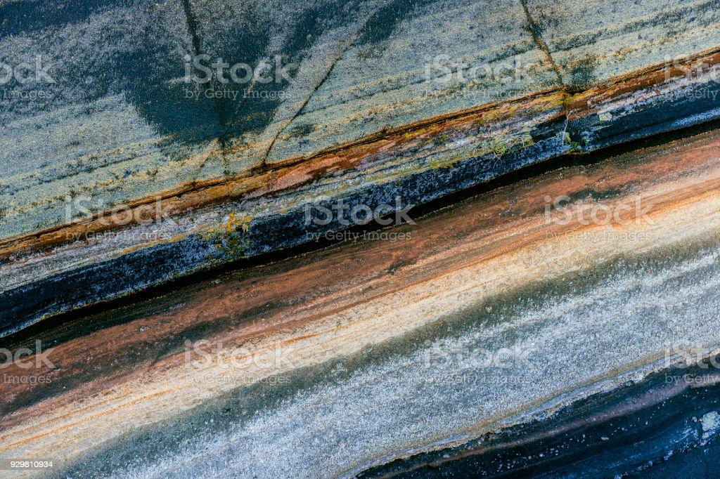 Sedimentschichten in El Teide Nationalpark Teneriffa, Spanien - Lizenzfrei Alt Stock-Foto