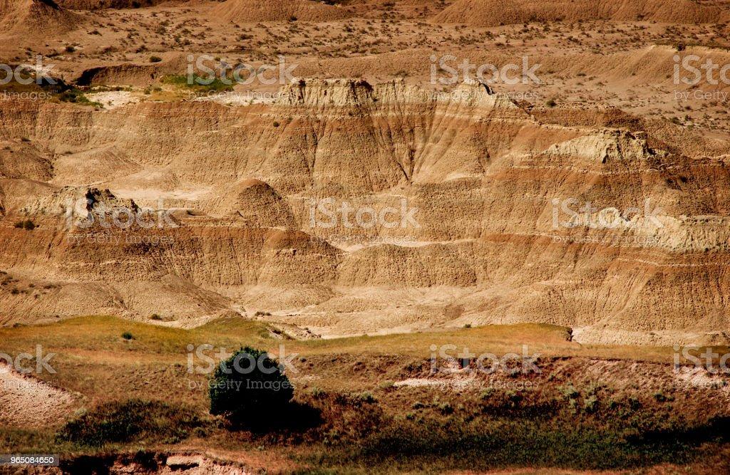 Sedimentary rock in Badlands National Park royalty-free stock photo