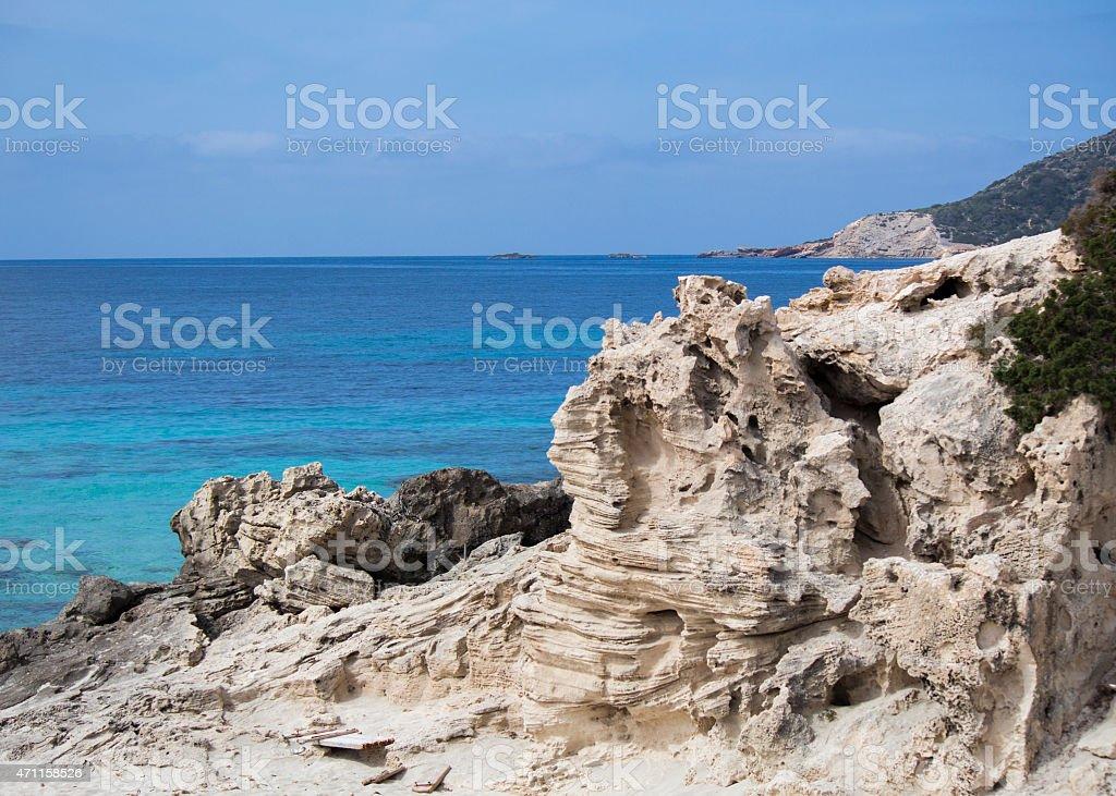 Sedimentary rock stock photo