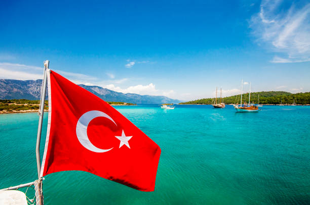 Sedir Island, Marmaris stock photo