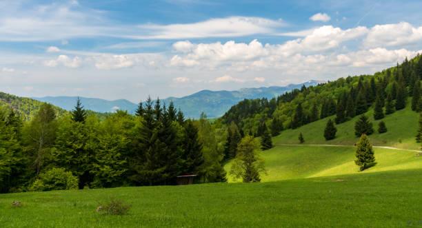 슬로바키아 의 벨카 파트라 산맥의 세들로 프리슬롭 안장 - 벨리카 파트라 뉴스 사진 이미지