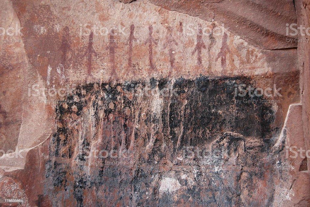 Sedona, Arizon Cave Painting of People stock photo