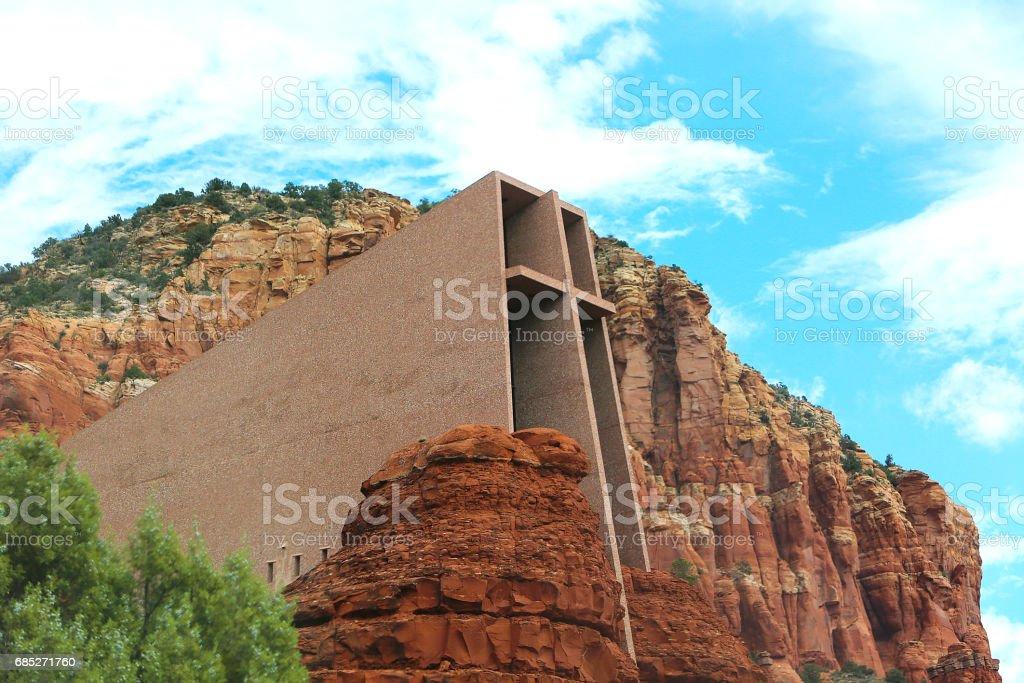 Sedona Arizona Chapel of the Holy Cross stock photo