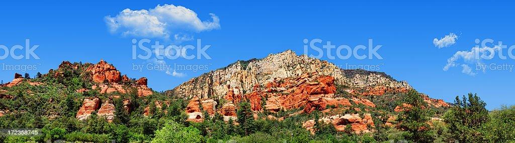 Panorámica del paisaje de Sedona, Arizona, foto de stock libre de derechos