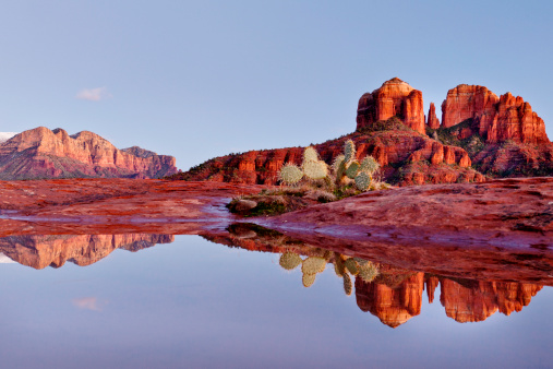 Cathedral rock reflection in rain poolPlease see more Sedona Arizona images in my portfolio: