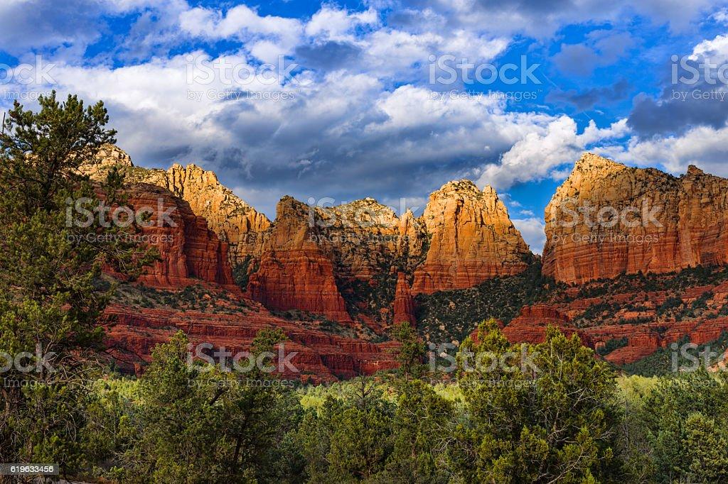 Sedona, Arizona red rock canyon stock photo