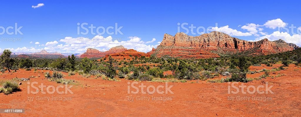 Sedona landscape panorama stock photo