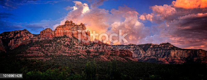 Sedona Mountain Landscape At Golden Hour