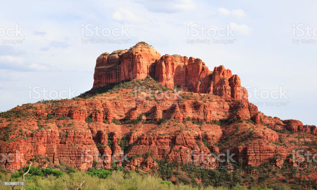Sedona Red Mountain stock photo