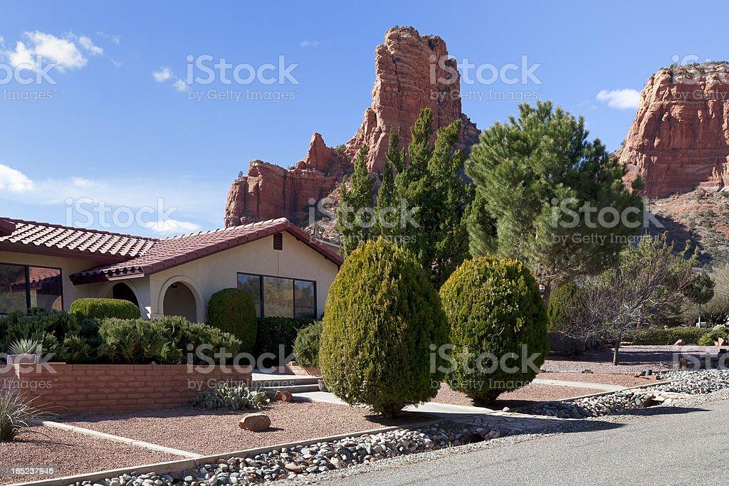 Sedona residence, Arizona stock photo
