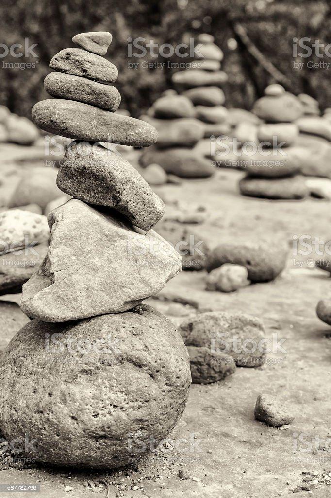 Sedona Rock Cairn stock photo