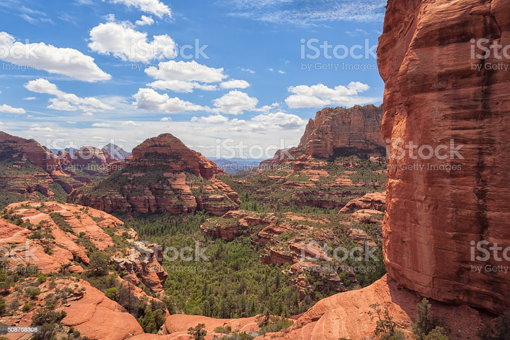 Sedona rocky landscape stock photo