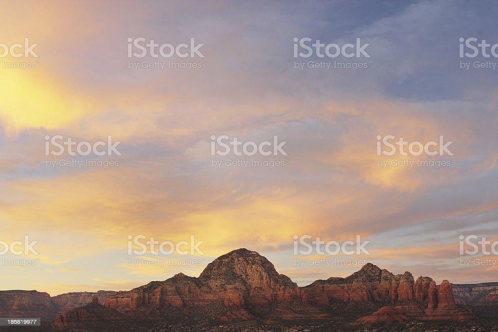 Sedona Sunset Red Rock Mountain royalty-free stock photo