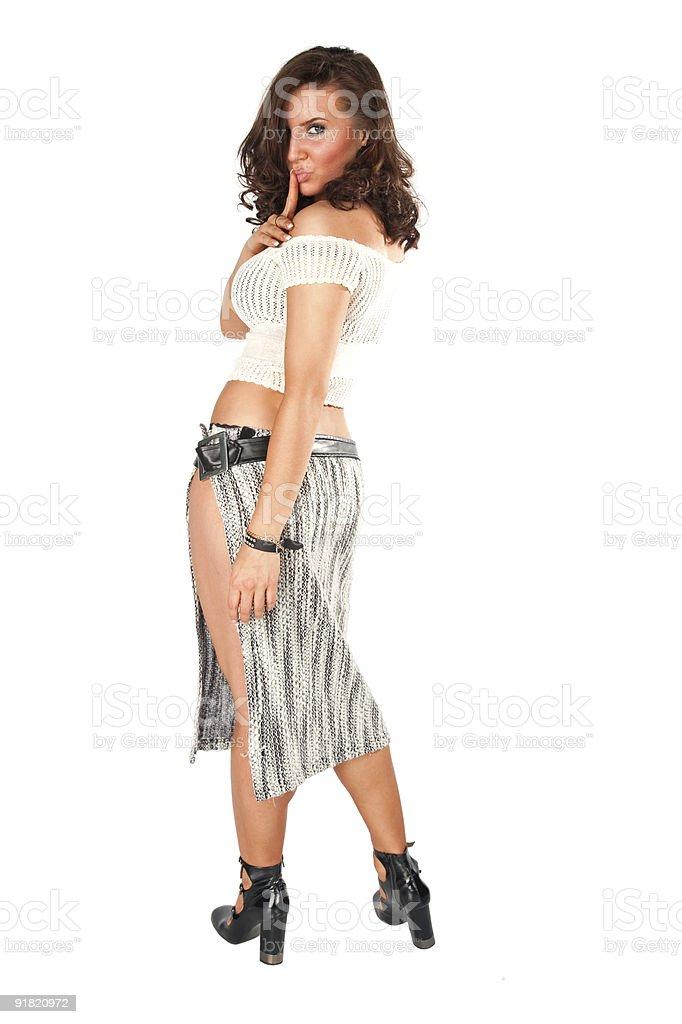 Seducing woman portrait royalty-free stock photo